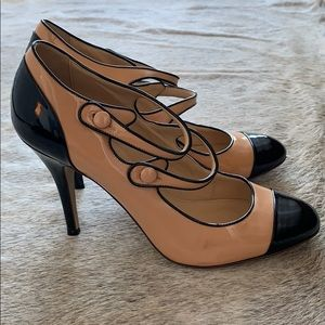 J Crew Italian patent leather heel